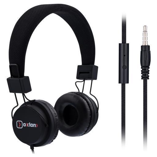 Oxion HS888, Black гарнитураHSO888BKНаушники с микрофоном OXION HS888 (Накладные, 18-20kHz, 116±3dB, 32 Ом, шнур 1,2м). Легкие и комфортные. Кнопка ответа и высокочувствительный микрофон. Гарнитура выполнена в стильном, современном дизайне и обладает превосходным звучанием.