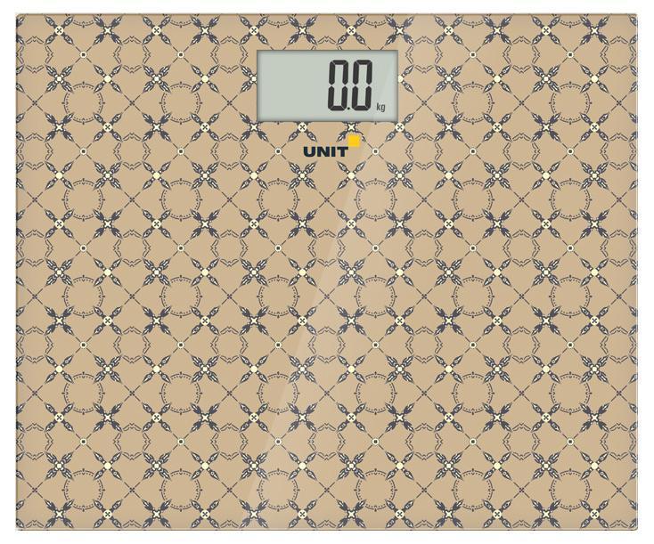 Unit UBS-2080, Beige весы напольныеUBS-2080 бежевыйВесы напольные электронные UNIT UBS-2080, стекло, 200кг. 100гр. (Цвет: Бежевый)