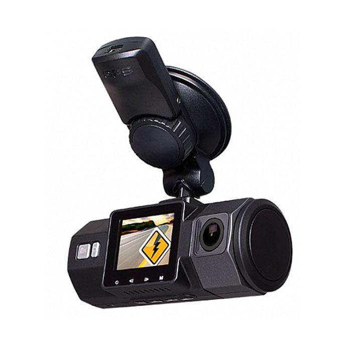 Street Storm CVR-N9220-G, Black видеорегистраторCVR-N9220-GStreet Storm CVR-N9220-G - это компактное устройство с двумя встроенными камерами (фронтальная и салонная). Таким образом, фиксируется не только все происходящее впереди автомобиля, но и обстановка в салоне, причем, благодаря широкоугольной оптике в кадр попадают и мертвые зоны. Более того, угол наклона салонной камеры можно регулировать (на 90°). Вне всяких сомнений, такое решение может быть особенно полезно водителям такси и общественного транспорта. На борту видеорегистратора работает новый процессор Novatek 96655, видеосенсоры Aptina AR0330 3MP (фронт) и NT99141 1MP (салон), а также качественные многослойные стеклянные объективы с углом обзора 170° и 140° соответственно. Фронтальная камера снимает с разрешением Full HD 1080p, салонная камера – HD 720p. За качество изображения также отвечает продвинутая функция WDR (Wide Dynamic Range), которая расширяет динамический диапазон и локально корректирует экспозицию на отдельных частях кадра. ...