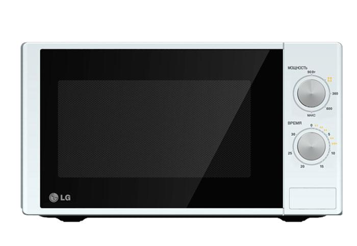 LG MS-2022D СВЧ-печьMS-2022DМикроволновая печь LG MS2022D - это простая и недорогая модель с механическим интуитивно понятным управлением. С ее помощью вы в кратчайшие сроки разогреете или разморозите продукты, а также приготовите различные блюда. Дверца легко открывается при помощи кнопки. Внутренняя поверхность печи имеет эмалированное покрытие Easy Clean, которое без труда оттирается от пищевых загрязнений. Равномерный нагрев пищи и компактный размер корпуса Благодаря технологии I-wave содержимое печи равномерно нагревается по всему объему. Блюда одинаково нагреются как в центре, так и по краям. На размораживание продуктов, лежавших в морозилке, уйдет лишь несколько минут. Микроволновая печь LG MS 2022D отличается компактными габаритами, поэтому прекрасно подходит для тесной кухни, а ее универсальный дизайн будет уместен в любом интерьере.