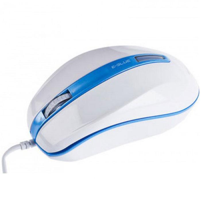 E-Blue EMS113 S-brigo-S, White Blue мышь проводная