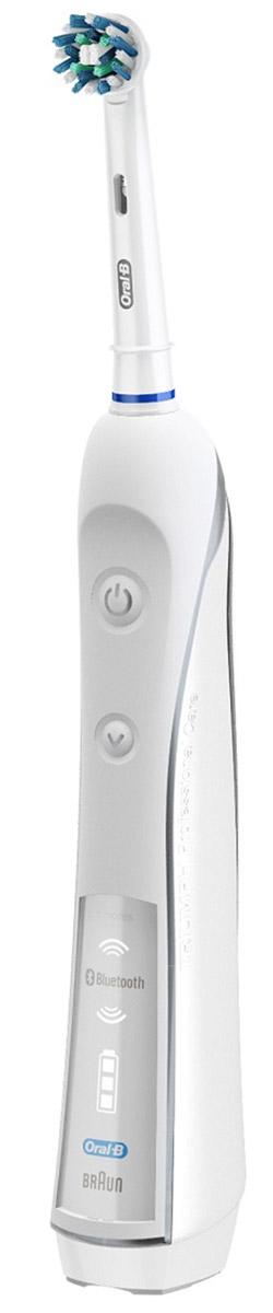 Oral-B Pro 6000 D36.575.5X Smart Series электрическая зубная щеткаCRS-80270154Электрическая зубная щетка Oral-B Pro 6000 SmartSeries – первая в мире щетка с возможностью подключения Bluetooth 4.0. Bluetooth-подключение позволяет синхронизировать щетку с бесплатным приложением Oral-B App (доступно для iOS и Android), давая возможность выбрать индивидуальную программу чистки (включая подбор продуктов для комплексного ухода и советы по применению зубной нити и ополаскивателя). Результаты чистки представляются в графиках, позволяя вам, а также лечащему врачу, детально отслеживать прогресс. В процессе чистки приложение показывает актуальные новости, прогноз погоды, предстоящие встречи и другие дополнения, помогая вам чистить зубы не менее 2-х минут 2 раза в день, не теряя драгоценного времени. 3D технология чистки совмещает возвратно-вращательные движения с пульсацией: пульсирующие движения бережно разрыхляют зубной налет, а возвратно-вращательные движения выметают его и массируют десны. Встроенный визуальный таймер: визуальная...