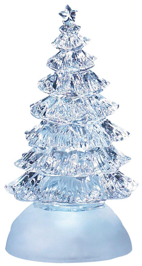 Новогодняя декоративная фигурка Елка, с подсветкойL&L-60W5MНовогодняя декоративная фигурка выполнена из прозрачного акрила в виде елки на подставке, украшенной белыми блестками. Изделие оснащено светодиодами. Свечение холодного белого цвета создаст атмосферу волшебства и праздника в вашем доме.