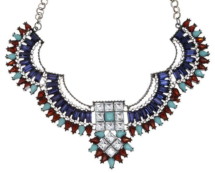 Ожерелье Магия от Arrina. Разноцветные кристаллы, ювелирный пластик, прозрачные стразы, бижутерный сплав серебряного тона. Гонконг10098481Роскошное ожерелье Магия от Arrina. Разноцветные кристаллы, ювелирный пластик, прозрачные стразы, бижутерный сплав серебряного тона. Гонконг. Размер - полная длина 43-51 см, размер регулируется за счет застежки-цепочки. Сохранность превосходная, изделие новое.