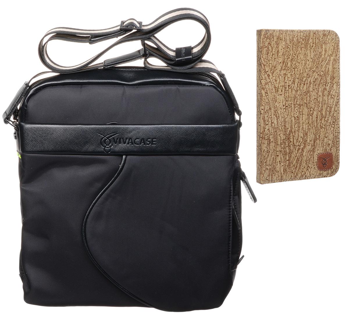 Vivacase комплект сумка для планшетов 9-11, Black + чехол для устройств 7VUC-CM012-bl/VAS-ASMPT06Универсальная сумка для планшетов от Viva учитывает все потребности мобильных людей. Изготовленная из самых качественных материалов она способна служить годами в условиях нашего климата, не только сохранив привлекательный внешний вид, но и надежно защищая ценное содержимое. Дополнительно с сумкой вы получаете чехол Vivacase Textile для Asus MeMO Pad 7, который защитит ваше устройство от механических повреждений. Изготовлена из влагозащищенной ткани и прочной кожи Отделения для документов и личных вещей, а также большой карман для планшета. Ключница и чехол для проездного на рулетке - в комплекте