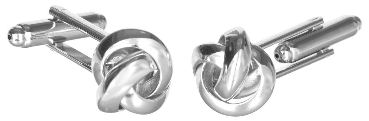 Запонки Mitya Veselkov 'Сложные узелки', цвет: серебряный. ZAP-302