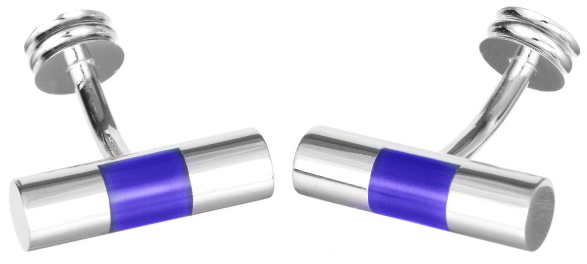 Запонки Mitya Veselkov Цилиндры Серебристые с синим, цвет: серебряный, синий. ZAP-211ZAP-211Стильные запонки Mitya Veselkov Цилиндры Серебристые с синим выполнены из бижутерийного сплава. Изделие оформлено в виде цилиндров, каждая запонка дополнена вставкой из цветного стекла. Изделие застегивается на вращающийся штырек. Стильный аксессуар подчеркнет ваш костюм, а также придаст элегантность и неповторимость имиджу. Запонки Mitya Veselkov - последний штрих, последняя маленькая точка в вашем облике.