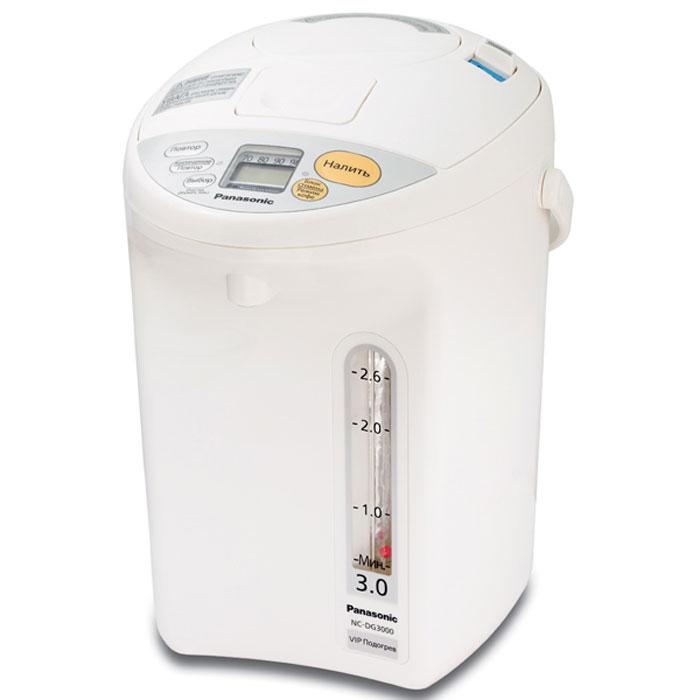 Panasonic NC-DG3000WTS термопотNC-DG3000WTSТермопот Panasonic NC-DG3000WTS оснащен четырьмя регулировками температурного режима: 98° / 90° / 80° / 70°. Функция медленной подачи воды предназначена специально для приготовления кофе. Легкоочищаемое антипригарное внутреннее покрытие позволит вам с легкостью очистить устройство, а функция длительного кипячения позволит снизить содержание хлора в воде. Вакуумная изоляционная панель U-VIP Специальное угольное покрытие BINCHO 4 / 5 / 6 / 7 / 8 / 9 / 10 – часовой таймер Компактный вращающийся на 360° корпус