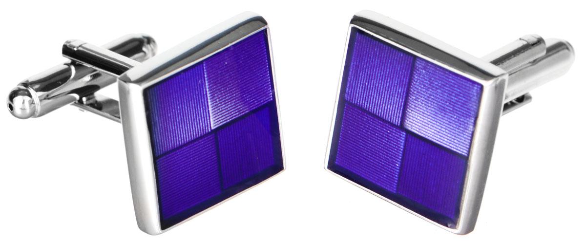 Запонки Mitya Veselkov 'Классика в фиолетовом', цвет: серебряный, фиолетовый. ZAP-223