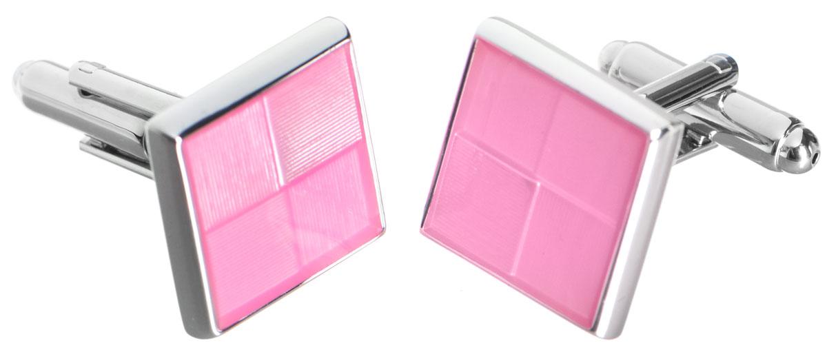 Запонки Mitya Veselkov Классика в розовом, цвет: серебряный, розовый. ZAP-222ZAP-222Стильные запонки Mitya Veselkov Классика в розовом выполнены из бижутерийного сплава. Изделие классической формы, каждая запонка дополнена цветной эмалью. Запонки застегиваются на вращающийся штырек. Стильный аксессуар подчеркнет ваш костюм, а также придаст элегантность и неповторимость имиджу. Запонки Mitya Veselkov - последний штрих, последняя маленькая точка в вашем облике.