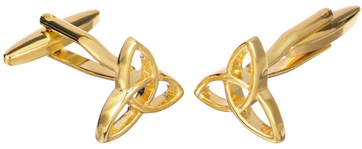 Запонки Mitya Veselkov 'Кельтский узор в золоте', цвет: золотой. ZAP-245