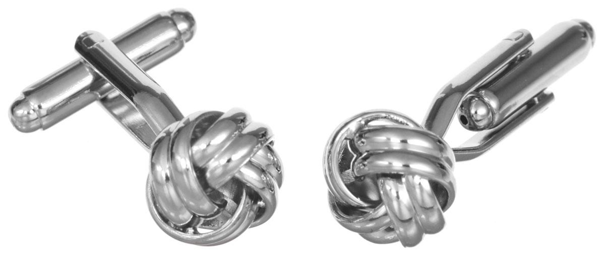 Запонки Mitya Veselkov Двойные узелки, цвет: серебряный. ZAP-303ZAP-303Запонки Mitya Veselkov Двойные узелки изготовлены из бижутерийного сплава. Оригинальные запонки выполнены в виде причудливых узелков. Изделие застегивается на вращающийся штырек. Стильный аксессуар подчеркнет ваш костюм, а также придаст элегантность и неповторимость имиджу. Запонки Mitya Veselkov - последний штрих, последняя маленькая точка в вашем облике.