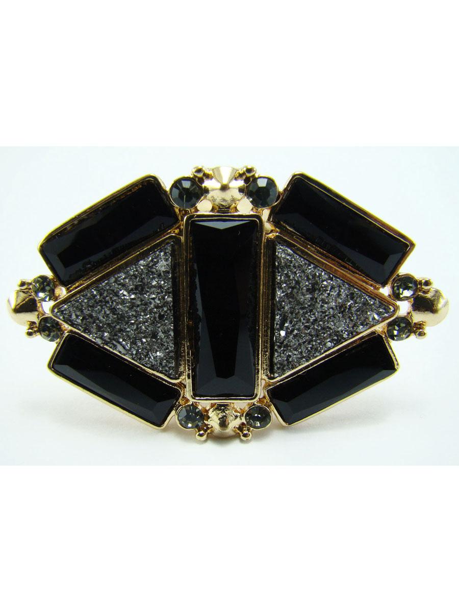 Кольцо Taya, цвет: золотистый, черный. T-B-8149T-B-8149Стильное кольцо Taya выполнено металлического сплава, оформлено декоративным элементом ромбовидной формы, который дополнен стразами и оригинальными вставками из стекла. Эластичная основа делает размер кольца универсальным. Оригинальное кольцо Taya превосходно дополнит ваш образ и подчеркнет отменное чувство стиля своей обладательницы.