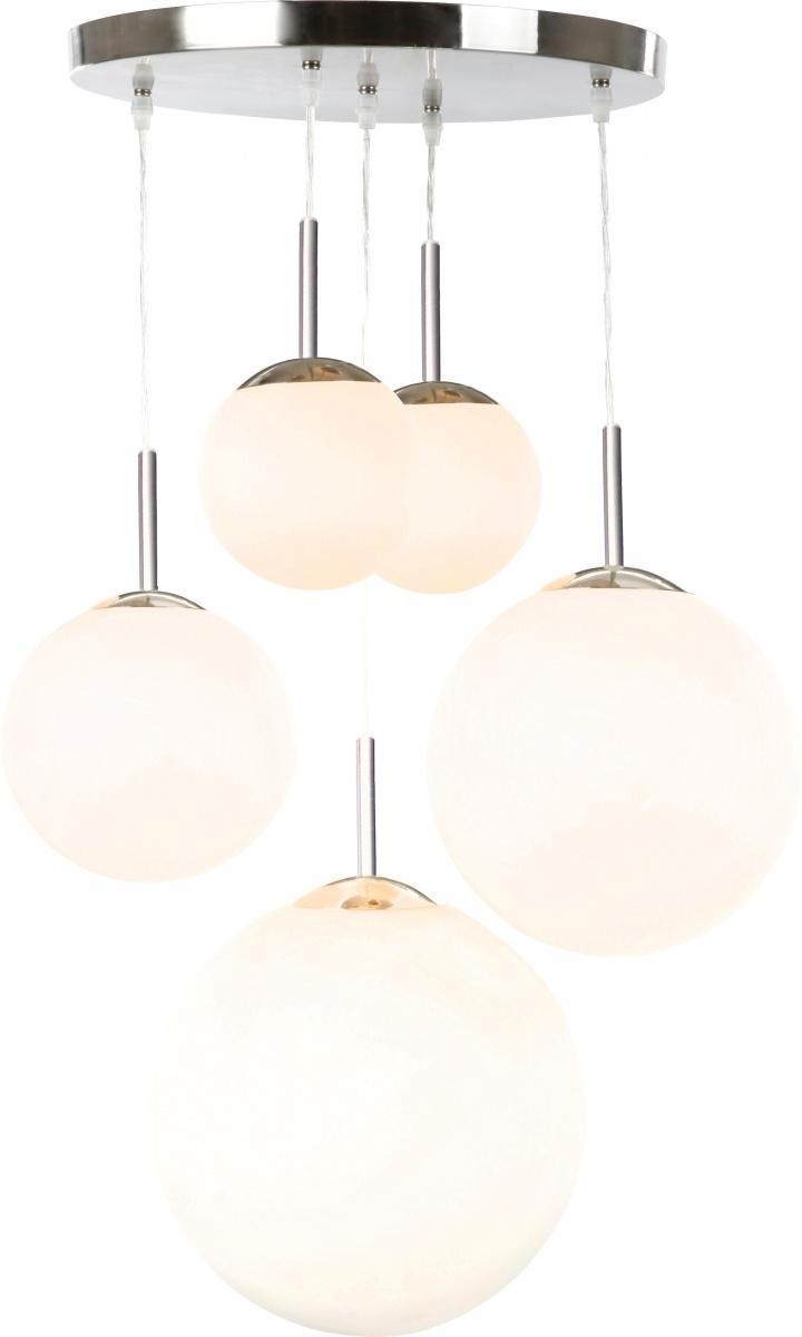 Подвесной светильник Globo BALLA 1581-51581-5Светильники и люстры - предметы, без которых мы не представляем себе комфортной жизни. Сегодня функции люстры не ограничиваются освещением помещения. Она также является центральной фигурой интерьера, подчеркивает общий стиль помещения, создает уют и дарит эстетическое удовольствие.
