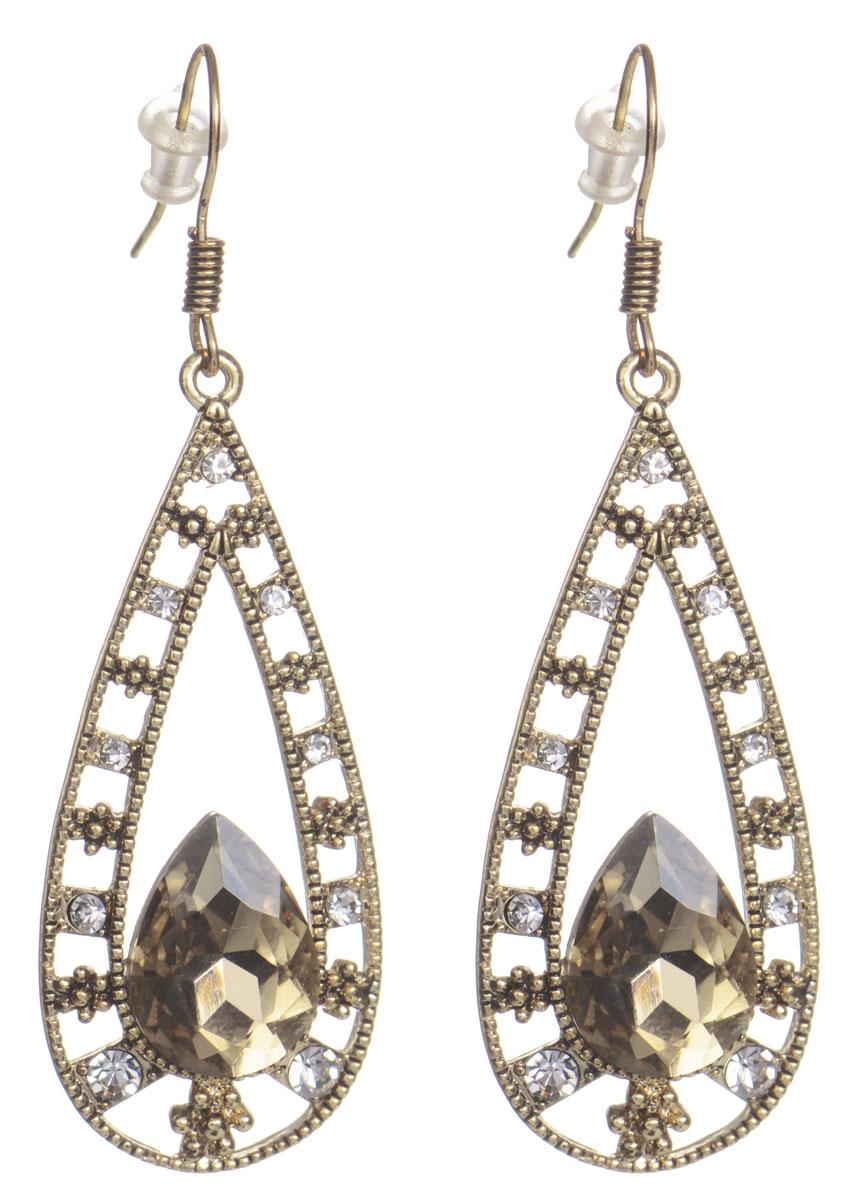 Серьги Taya, цвет: золотистый. T-B-7774T-B-7774-EARR-GOLDЭлегантные серьги Taya выполнены из бижутерийного сплава. Изделие оформлено оригинальными подвесками каплевидной формы, которые дополнены гранеными кристаллами. Серьги застегиваются на практичный замок-петлю с фиксаторами. Оригинальные серьги придадут вашему образу изюминку, подчеркнут индивидуальность.