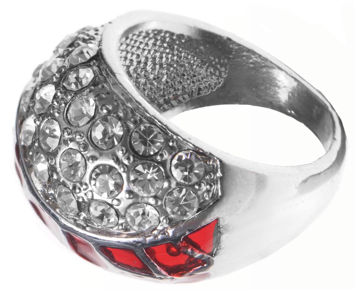 Кольцо Taya, цвет: красный, серебряный. Размер 19. T-B-8689T-B-8689-RING-REDОригинальное кольцо Taya выполнено из бижутерийного сплава, дополнено вставками из сияющих стразов. Стильное кольцо придаст вашему образу изюминку, подчеркнет индивидуальность.