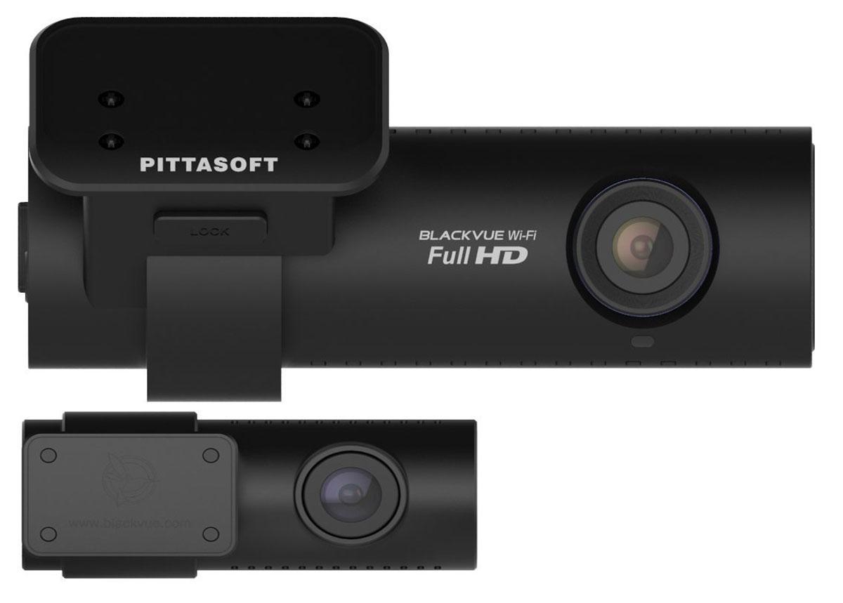 BlackVue DR650GW-2CH видеорегистраторDR650GW-2CH BlackBlackvue DR650GW-2CH - автомобильный видеорегистратор, который позволит производить качественную видеосъемку и является практически незаметным после установки в автомобиле. Данная модель оснащена Wi-Fi модулем, благодаря которому отснятые материалы можно просматривать на смартфонах, планшетных компьютерах и прочих устройствах. Видеорегистратор производит запись в циклическом режиме, без потери фрагментов, также имеется датчик удара. Full HD + HD 2 CH BlackVue Wi-Fi Превосходный двухканальный автопомощник, записывающий видео по обе стороны движения: спереди и сзади. Основная камера, установленная на лобовом стекле, охватывает обзор всей дороги впереди. Вторая камера, которая крепится на заднем стекле, фиксирует обстановку позади автомобиля. Обе камеры соединены высококачественным коаксиальным кабелем. Передние Full HD и RERA HD камеры обеспечивают наилучший угол обзора. Встроенный модуль WiFi гарантирует связь вашего смартфона...