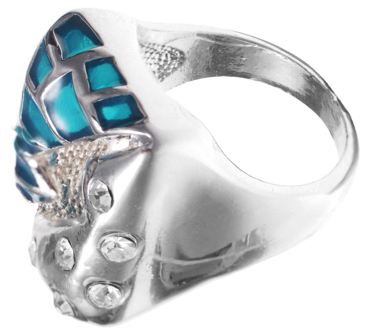 Кольцо Taya, цвет: синий, серебряный. Размер 19. T-B-8698T-B-8698-RING-BLUEОригинальное кольцо Taya выполнено из бижутерийного сплава, дополнено вставками из сияющих камней и стекла. Стильное кольцо придаст вашему образу изюминку, подчеркнет индивидуальность.