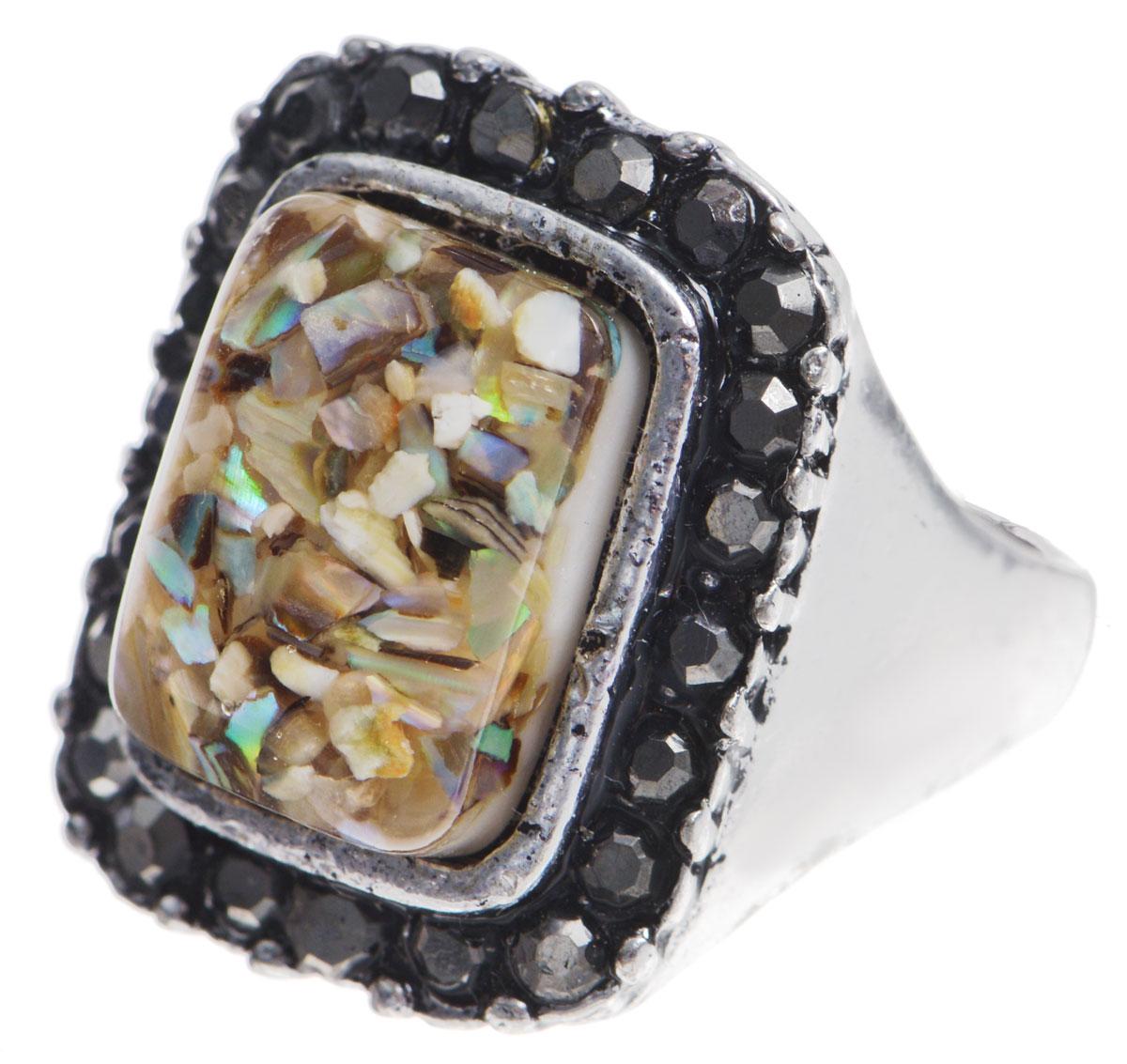 Кольцо Taya, цвет: серебряный, бежевый. Размер 18. T-B-8675T-B-8675-RING-BR.MULTIОригинальное кольцо Taya выполнено из бижутерийного сплава, дополнено оригинальным декоративным элементом, который изготовлен из ювелирной смолы и перламутра. Стильное кольцо придаст вашему образу изюминку, подчеркнет индивидуальность.