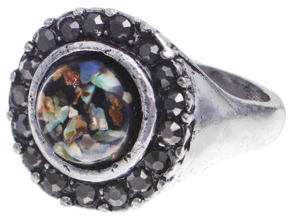 Кольцо Taya, цвет: серебряный, коричневый, зеленый. Размер 20. T-B-8679T-B-8679-RING-BR.MULTIОригинальное кольцо Taya выполнено из бижутерийного сплава, дополнено оригинальным декоративным элементом, который изготовлен из ювелирной смолы и перламутра. Стильное кольцо придаст вашему образу изюминку, подчеркнет индивидуальность.