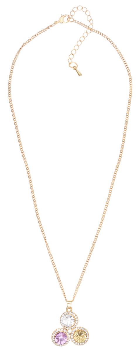 Колье Taya, цвет: золотистый, пурпурный, желтый, белый. T-B-7861T-B-7861-NECK-GL.PURPLEЭлегантное колье Taya, выполнено из бижутерийного сплава. Изделие дополнено оригинальной подвеской, которая оформлена сияющими стразами из стекла. Изделие застегивается на практичный замок-карабин, длина регулируется за счет дополнительных звеньев. Стильное колье придаст вашему образу изюминку, подчеркнет индивидуальность.