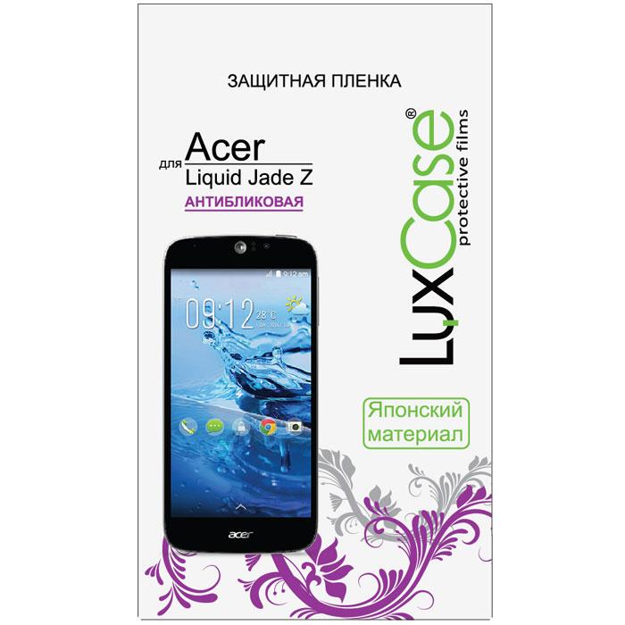 LuxCase защитная пленка для Acer Liquid Jade Z, антибликовая52620Защитная пленка Luxcase для Acer Liquid Jade Z сохраняет экран смартфона гладким и предотвращает появление на нем царапин и потертостей. Структура пленки позволяет ей плотно удерживаться без помощи клеевых составов и выравнивать поверхность при небольших механических воздействиях. Пленка практически незаметна на экране смартфона и сохраняет все характеристики цветопередачи и чувствительности сенсора.
