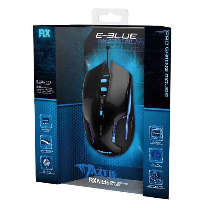 E-Blue EMS616BKAA-IU Mazer RX, Black игровая мышь