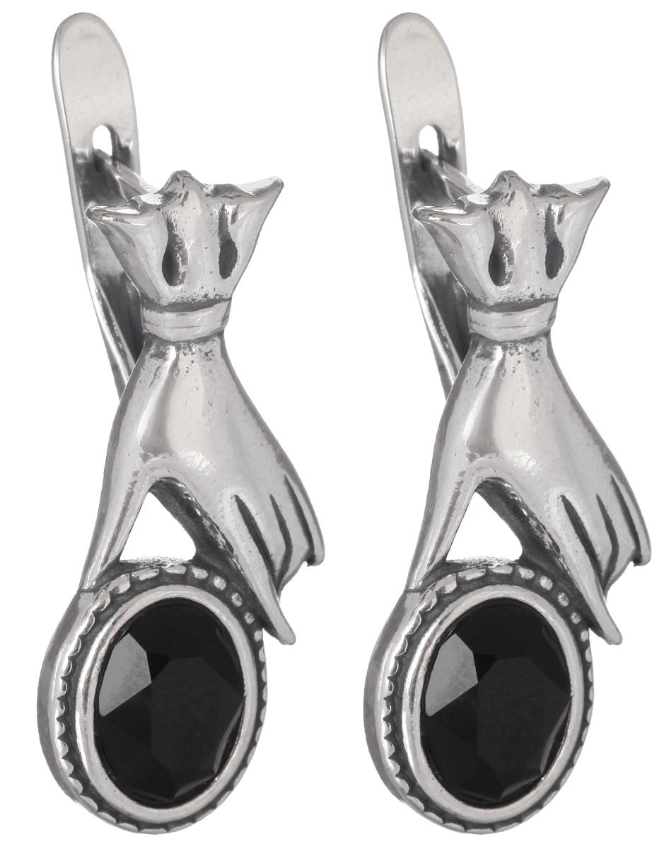 Серьги Jenavi Корнуолл, цвет: серебряный, черный. h2503160h2503160Стильные серьги Jenavi Корнуолл выполнены в виде основы оригинальной формы из ювелирного сплава, которая оформлена кристаллами Swarovski. В качестве основания используется классический английский замок, который надежно зафиксирует сережку. Оригинальные серьги Jenavi Корнуолл помогут дополнить любой образ и привнести в него завершающий яркий штрих.