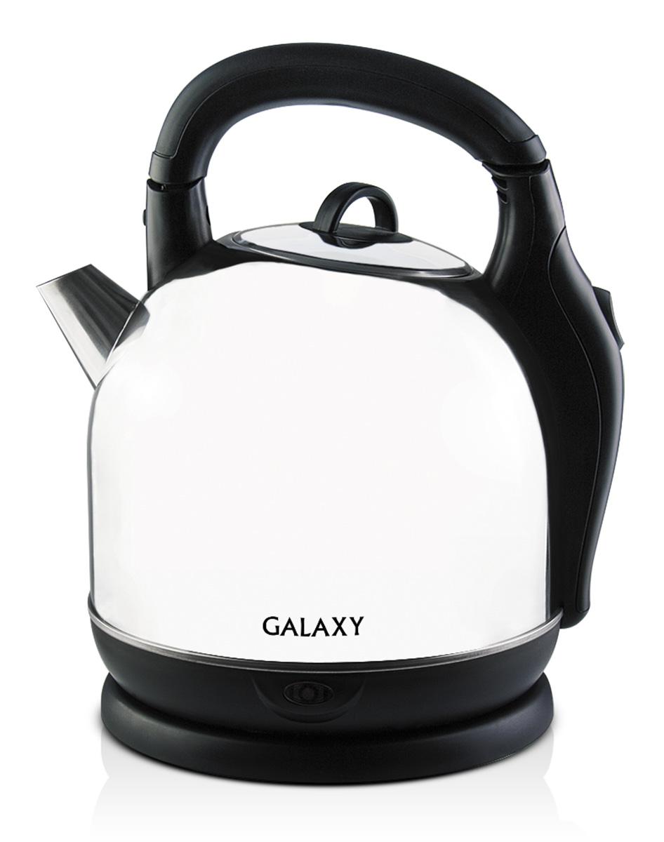 Galaxy GL0306, Silver Black электрочайник4630003362568Электрочайник Galaxy GL0306 изготовлен из стали марки 18/10, именуемой медицинской или хирургической. Такое название она получила не случайно, ведь именно из этой марки стали изготавливаются медицинские и хирургические инструменты. Это обусловлено тем, что сталь 18/10 экологически безопасна, имеет высокую плотность и твердость, устойчива к коррозии, а также к воздействию кислот и щелочей, в том числе при высоких температурах. Данная модель не меняет вкус воды, устойчива к образованию накипи и в течение многих лет сохраняет свои качественные и эстетические свойства. Скрытый нагревательный элемент. Указатель максимального уровня воды Силиконовые ножки для устойчивости Складная ручка