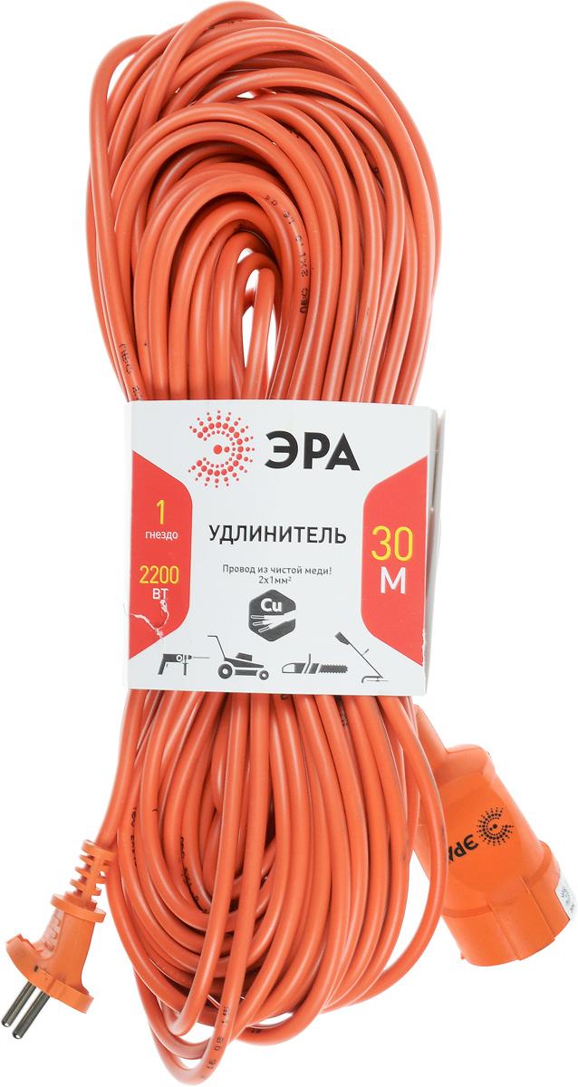 Удлинитель силовой ЭРА UP-1-2x1.0-30m, 1 гнездо, 30 мUP-1-2x1.0-30mСиловой удлинитель ЭРА UP-1-2x1.0-30m предназначен для бытового применения и обеспечивает возможность присоединения электрического приемника к однофазной электрической сети с номинальным напряжением 220В. За счет большой длины кабеля незаменим на садовом участке, при проведении строительных и ремонтных работ. Провод выполнен из чистой меди. Технические характеристики: Сечение провода: 2 х 1 мм2. Номинальное напряжение: 220В. Максимальное напряжение: 250В. Максимальная нагрузка с размотанным шнуром: 2200 Вт. Максимальная нагрузка со смотанным шнуром: 1100 Вт. Наличие заземляющего контакта: нет. Температура эксплуатации: от +5°С до +40°С. Относительная влажность: не более 85%. Срок службы: 5 лет.