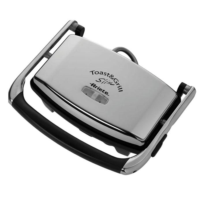 Ariete 1911 Toast & Grill Slim, Grey электрогриль1911Благодаря компактным и элегантным размерам, электрогриль Ariete 1911 Toast & Grill Slim является ценным помощником на кухне. При приготовлении пищи в гриле можно использовать минимальное количество масла, что позволяет готовить менее жирную и диетическую пищу. Модель очень проста и удобна в использовании. Прибор выполнен из качественных и прочных материалов, что значительно продлевает срок службы. Индикатор нагрева и мощности Тефлоновое покрытие пластин