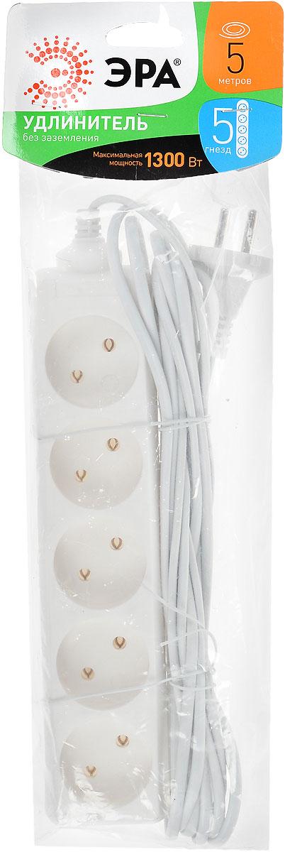 Удлинитель ЭРА UX-5-5m, 5 гнезд, 5 мUX-5-5mУдлинитель ЭРА UX-5-5m предназначен для удобного подключения к сети электроснабжения бытовой и компьютерной техники, позволяет подключить несколько потребителей к одной электрической розетке. Материал корпуса: полипропилен. Наличие заземляющего контакта: нет. Номинальное напряжение: 230В / 50 Гц.