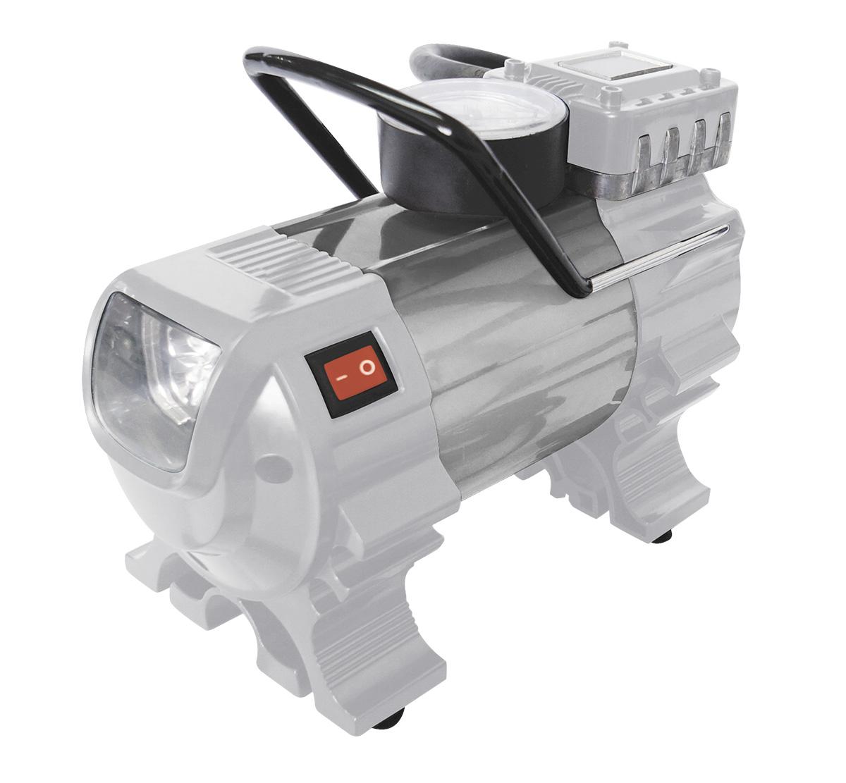 Компрессор автомобильный Ставр КА-12/7ФМст12-7фмкаАвтомобильный компрессор Ставр КА-12/7ФМ предназначен для накачивания автомобильных, мотоциклетных, велосипедных шин, мячей и прочего. Компрессор работает от напряжения 12 В. Встроенный фонарь помогает производить работы в темное время суток. На верхней части корпуса расположен манометр, позволяющий контролировать работу компрессора. Аппарат комплектуется сумкой для удобства при транспортировке и хранении.
