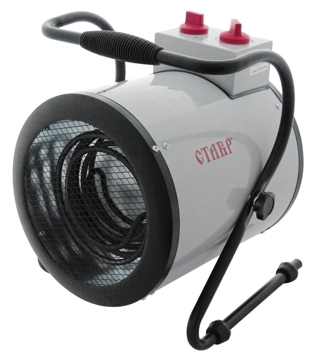 Пушка тепловая электрическая Ставр ПТЭ-3000/2Кст3000-2кптэТепловая пушка Ставр ПТЭ-3000/2К используется для временного или постоянного обогрева и просушки помещений самого разного назначения. При перегревании пушка автоматически отключается, что обеспечивает большую безопасность. Три режима обогрева позволяют поддерживать необходимую температуру. Металлический корпус обеспечивает долгий срок службы устройства и стойкость к механическим воздействиям. Настраиваемый термостат дает возможность поддерживать заданную температуру в помещении. Пушка не выделяет вредных газов, благодаря чему ее можно использовать в любых помещениях