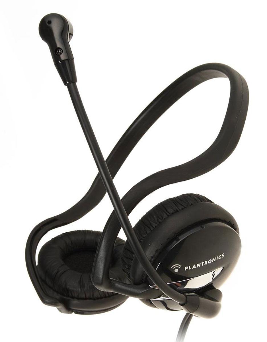 Plantronics 345 гарнитураSV-0410880Гарнитура Plantronics 345 понравится тем, кто не любит традиционное оголовье. Конструкция гарнитуры разработана таким образом, что динамики практически не прижимаются к ушным раковинам, что обеспечивает дополнительный комфорт. Микрофон с системой шумоподавления на гибком держателе обеспечивает передачу кристально-чистого голоса и возможность регулировки положения микрофона относительно уголка рта. На шнуре расположен компактный блок регулировки громкости и кнопка отключения микрофона, что обеспечивает дополнительное удобство и контроль во время прослушивания музыки и разговора. Гарнитура подключается к звуковой карте компьютера с помощью двух стандартных разъемов 3,5 мм. Передача кристально-чистого голоса Микрофон с системой шумоподавления Регулировка громкости в динамиках Кнопка отключения микрофона Компактный блок регулировки громкости Возможность регулировки положения микрофона относительно уголка рта Дополнительное удобство и...