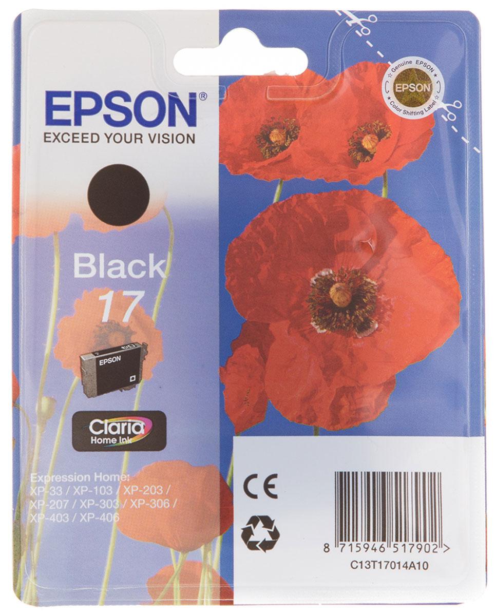 Epson T1701 (C13T17014A10), Black картридж для Expression Home XP33/203/303C13T17014A10Картридж с чернилами Epson T1701 для струйных принтеров Expression Home.