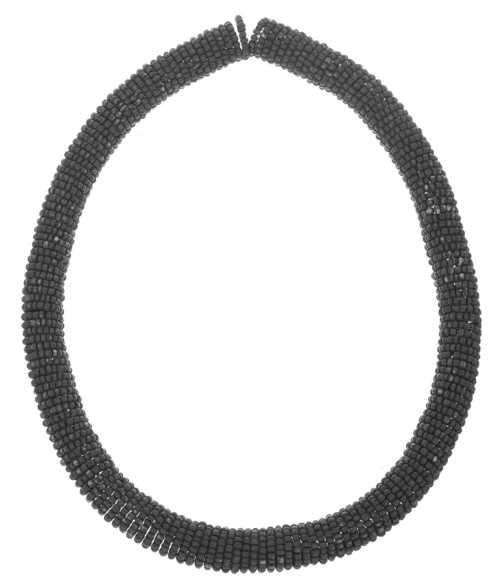 Бусы Ethnica, цвет: серый. 221065221065Бусы Ethnica выполнены в виде эластичной пружинки из металлического сплава, на которую нанизан бисер из пластика. За счет эластичной основы бусы имеют универсальный размер. Объемные бусы Ethnica помогут дополнить любой образ и привнести в него завершающий яркий штрих.