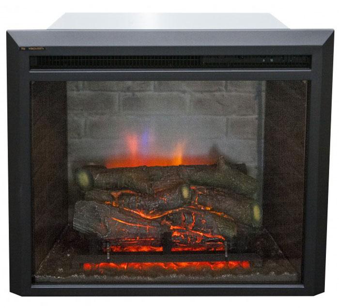 RealFlame Leeds 23 SD электроочагLeeds 23 SDЭлектрический очаг RealFlame Leeds 23 SD предназначен для встраивания в обрамления под широкий очаг. С потрясающим эффектом пламени и муляжом дров расположенных за стеклом. Посредством регулятора яркости огня можно задать желаемую яркость пламени. Нагреватель с поддувом спрятан в верхней части очага и обеспечивает обогрев в холодную погоду. Переключатель позволяет включать на полную или половинную мощность. Габариты встраиваемые: 52 см х 58 см х 22 см