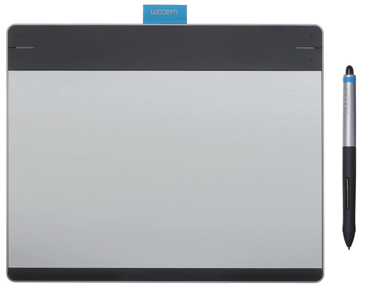 Wacom Intuos Pen&Touch Medium, Silver графический планшет (CTH-680S-S)4949268618908Планшет Wacom Intuos Pen&Touch Medium предоставляет естественный, простой и интересный способ для новичков и любителей воплотить свои творческие идеи. Intuos переносит рисование при помощи ручки и бумаги на новый уровень, позволяя пользователям реализовывать идеи на компьютере. Вы можете делать наброски или шаржи, рисовать картины, редактировать фотографии или разрабатывать дизайн открыток. Новое обтекаемое перо конусообразной формы легко лежит в руке, а мягкий наконечник предоставит художникам те же ощущения, что и традиционные ручки и кисти, и позволит добавлять в рисунки даже мельчайшие детали. Мульти-тач позволяет перемещать курсор, приближать, масштабировать и вращать рисунки легким нажатием пальца. Как и у других перьевых планшетов, у Intuos есть четыре клавиши ExpressKeys, которые теперь можно настроить под часто используемые команды индивидуально для каждой популярной программы для творчества. Эргономичный и тонкий дизайн Wacom Intuos...