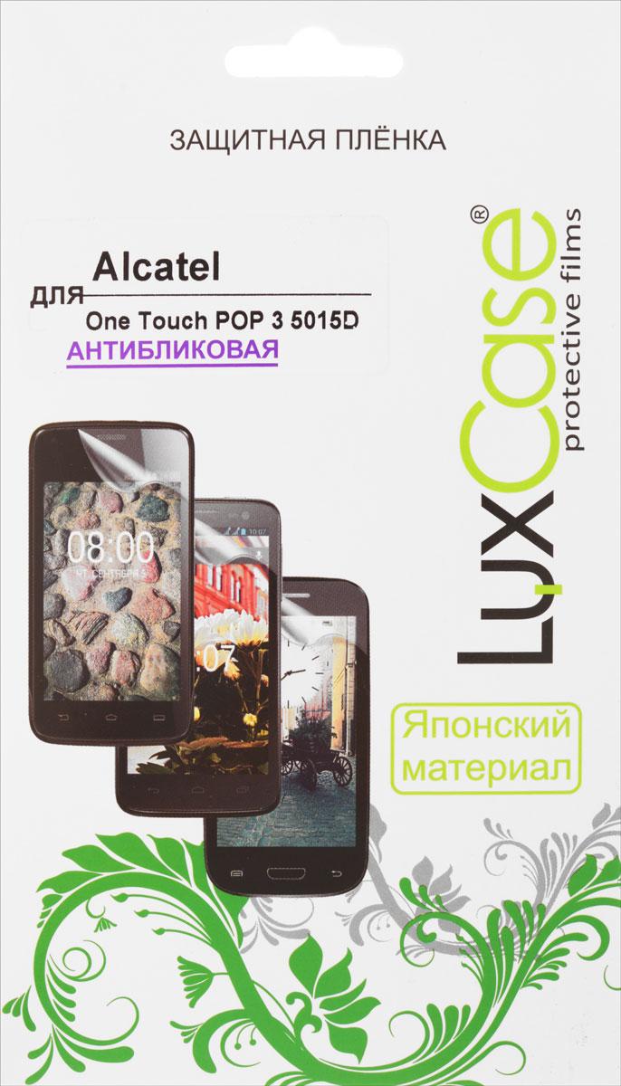 LuxCase защитная пленка для Alcatel One Touch POP 3 5015D, антибликовая51349Защитная пленка Luxcase для Alcatel One Touch POP 3 5015D сохраняет экран смартфона гладким и предотвращает появление на нем царапин и потертостей. Структура пленки позволяет ей плотно удерживаться без помощи клеевых составов и выравнивать поверхность при небольших механических воздействиях. Пленка практически незаметна на экране смартфона и сохраняет все характеристики цветопередачи и чувствительности сенсора.