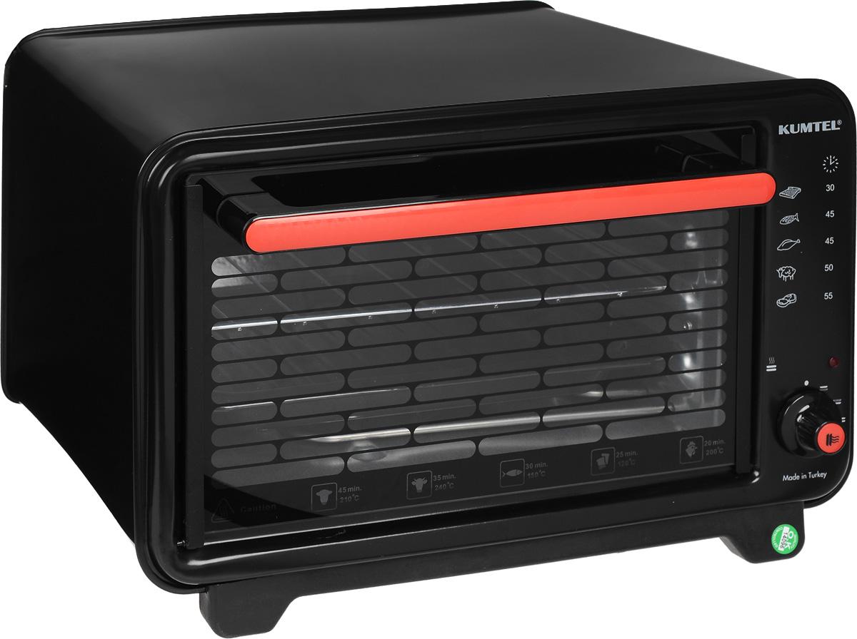 Kumtel KF 3000 D, Black жарочный шкаф3000F KA OS RU 02Турецкая компания Kumtel предлагает широкий выбор мини-духовок для тех, кто любит готовить, но не имеет возможности установить полноценную духовку дома или на даче. Компактный жарочный шкаф Kumtel KF 3000 D черного цвета сэкономит пространство кухни и приготовит полезную, вкусную пищу быстро благодаря мощности 1300 Вт. Вместительная 32-литровая духовка изготовлена из современного жаропрочного материала, ухаживать за которым очень просто. Печь быстро набирает максимальную температуру. Данная электропечь является к тому же и долговечным изделием.