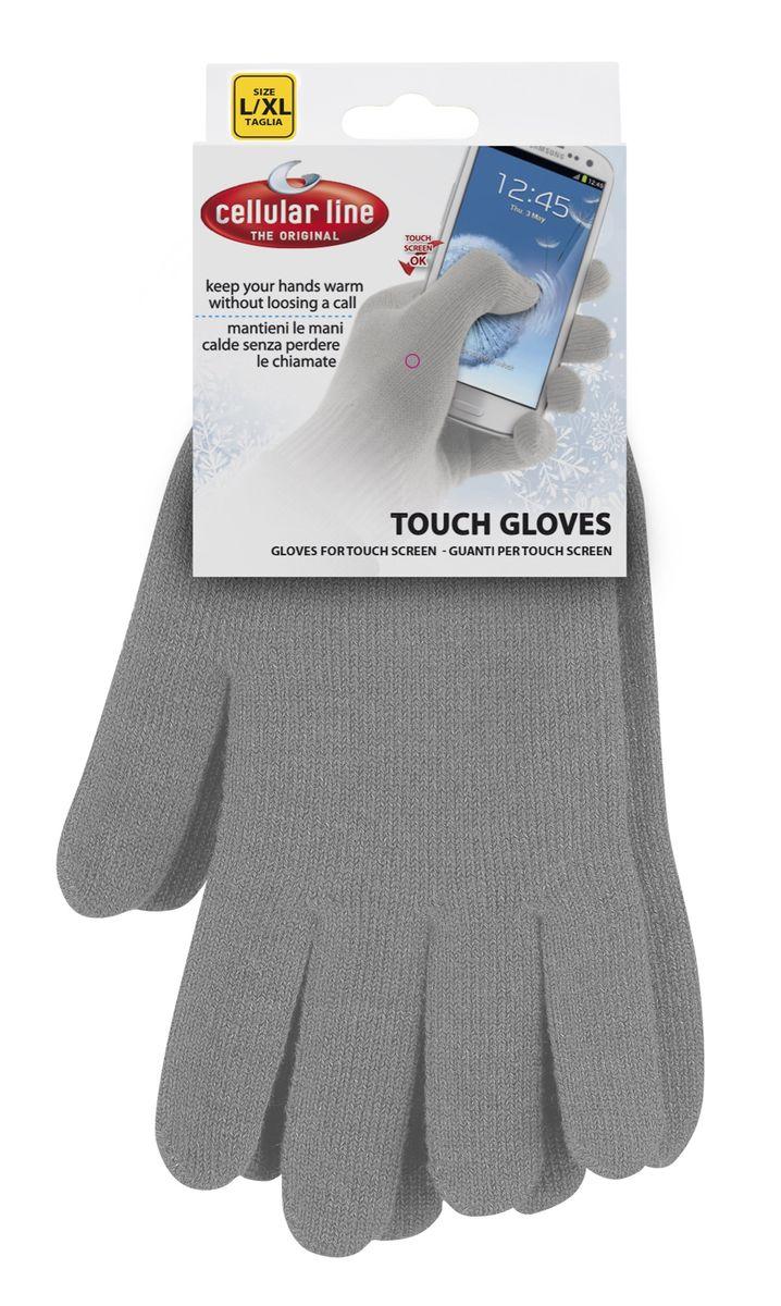 Cellular Line TouchGloves размер L/XL, Grey сенсорные перчаткиTOUCHGLOVESLXLG. (17190)Cellular Line Touchgloves - с виду вполне обычные перчатки, которые на самом деле обладают полезными свойствами. Ведь они разработаны для того, чтобы раз и навсегда решить проблему, возникающую перед обладателями устройств с сенсорным дисплеем в холодное время года. Теперь вы сможете управлять девайсом, не подвергая свои руки воздействию мороза, ведь работать с любым сенсорным экраном можно прямо в них. Самое замечательное, что гаджет будет отзываться на прикосновения так же чутко, как будто вы дотрагиваетесь до него пальцем. Состав: 55,5% акрил 31,4% проводящая пряжа 8,2% спандекс 4,9% эластан