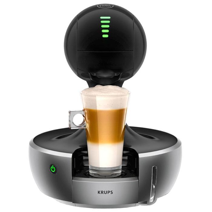 Krups KP350B10 капсульная кофемашинаKP350BKrups KP350B10 - это капсульная кофемашина с сенсорным управлением. Емкость водного резервуара составляет 800 мл, а в отсек для кофе может вмещать в себя до 6 капсул. Данная модель использует капсулы Nescafe Dolce Gusto с различными видами напитков на ваш выбор. Это полностью автоматическая модель, в которой для начала приготовления нужно лишь нажать одну кнопку. Мощность прибора составляет 1200 Вт, а максимальное давление пара 15 Бар гарантируют высокую скорость приготовления напитков. Прибор также оснащен светодиодным индикатором зеленого цвета и функцией автоматического выключения через 5 минут.