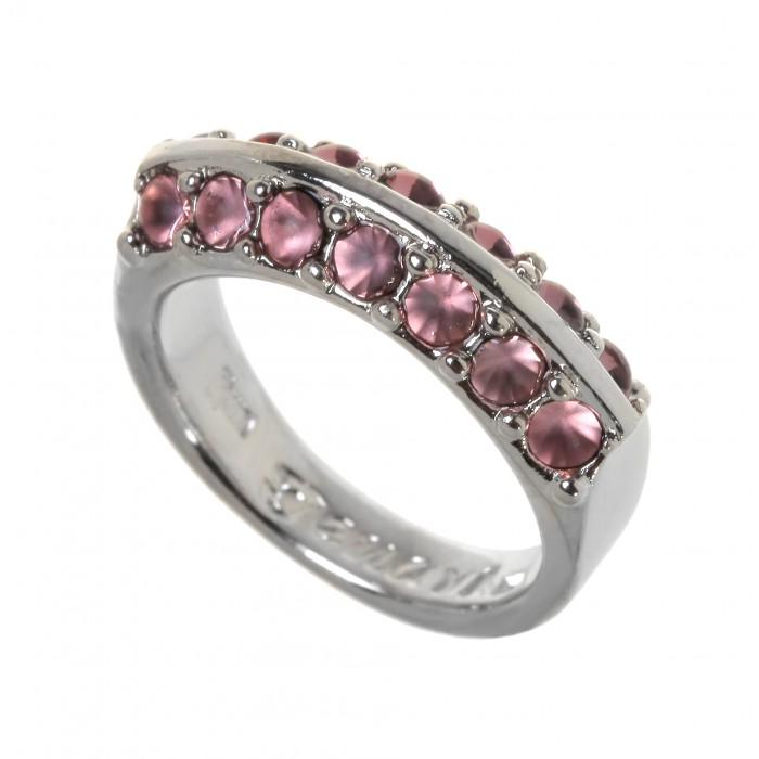 Кольцо Jenavi Пэрэ, цвет: серебристый, розовый. Размер 17j713f010Оригинальное кольцо Jenavi Пэрэ выполнено из ювелирного сплава с антиаллергическим гальваническим покрытием серебрением с родированием. Декоративный элемент в два ряда оформлен розовыми кристаллами Swarovski. Стильное кольцо придаст вашему образу изюминку и подчеркнет индивидуальность.