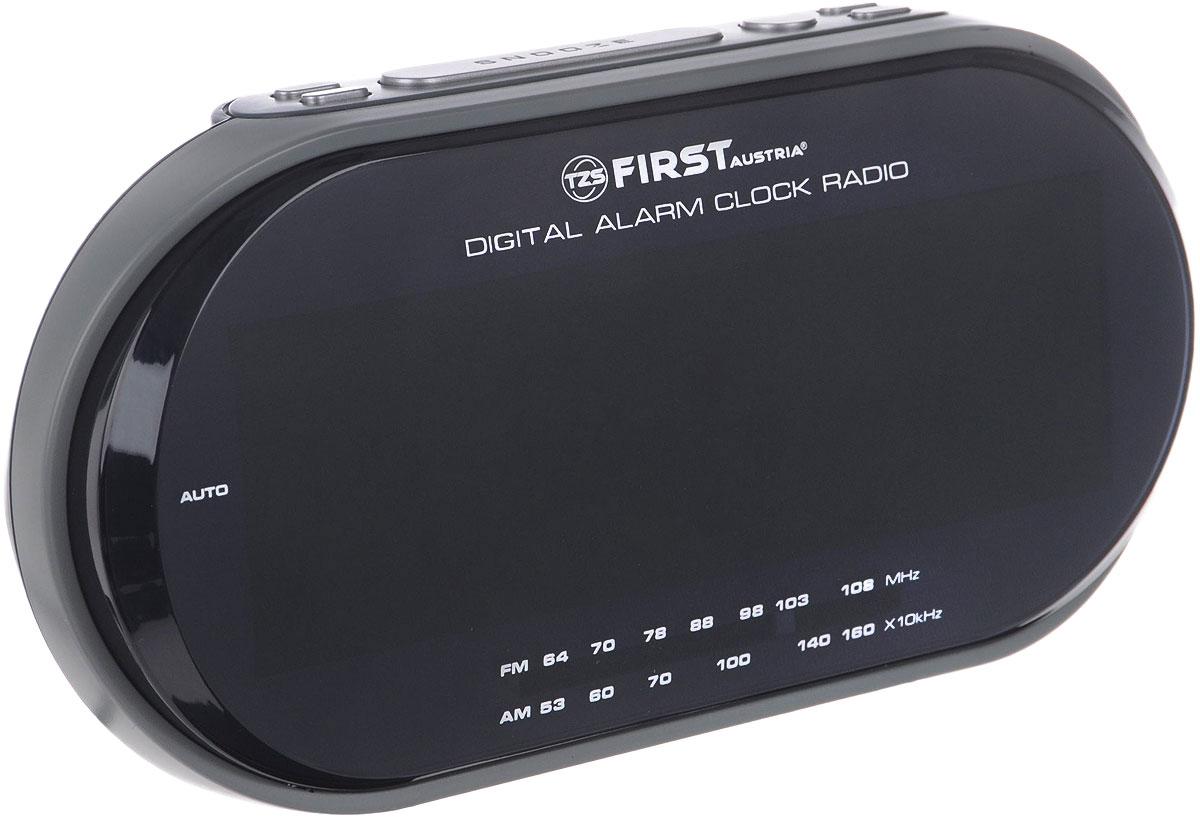 First 2409-1-RF, Grey радиочасыFA-2409-1-RF GreyFirst 2409-1-RF - радиочасы с LED-дисплеем диагональю 1,8 дюйма. Устройство имеет кварцевый стабилизатор, а также различные дополнительные функции: подъем под музыку или звонок, диммер, двойной будильник, календарь, а также таймер отключения. Яркость подсветки устройства вы можете регулировать по своему вкусу. Также можно активировать отложенный сигнал чтобы поспать еще немного времени.