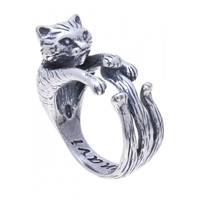 Кольцо Jenavi Тимон, цвет: серебристый. Размер 16f5353090Оригинальное незамкнутое кольцо Jenavi Тимон изготовлено из ювелирного сплава с антиаллергическим гальваническим покрытием черненым серебром. Изделие выполнено в виде кота. Стильное кольцо придаст вашему образу изюминку и подчеркнет индивидуальность.