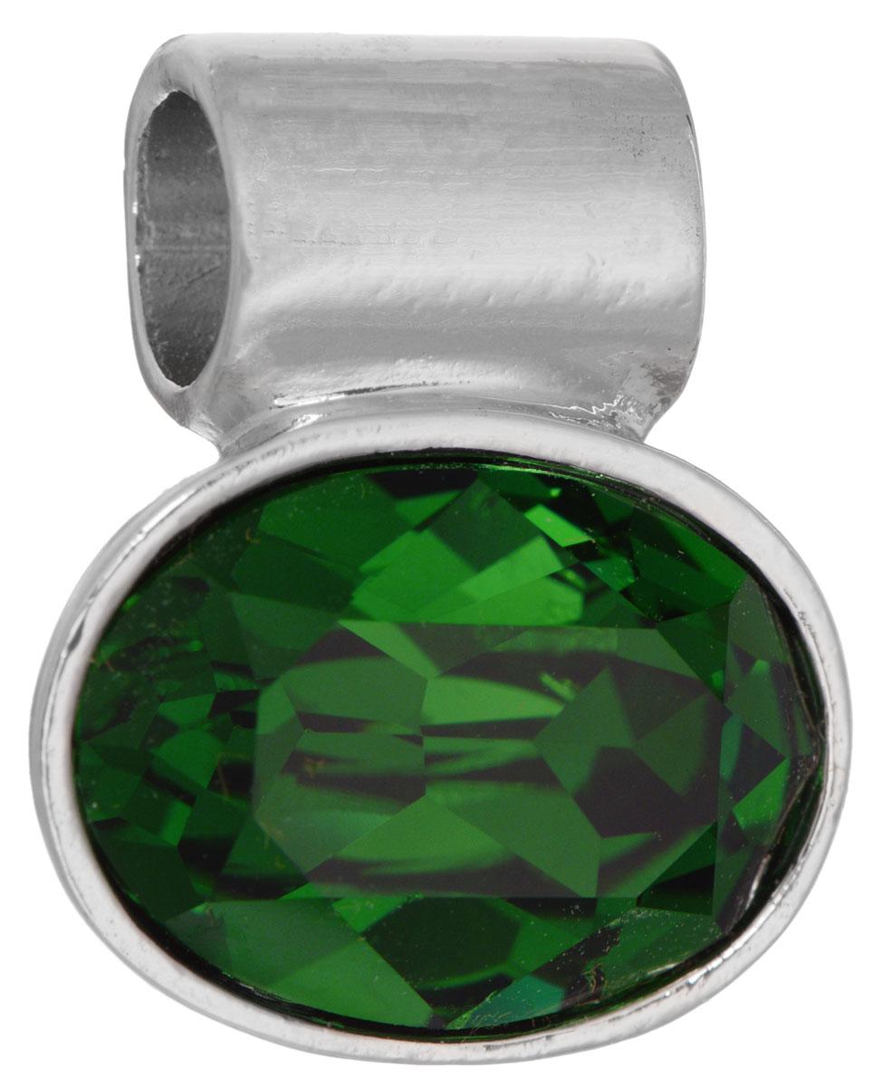 Подвеска Jenavi Таррела, цвет: серебряный, зеленый. k291f332k291f332Подвеска Jenavi Таррела выполнена из гипоаллергенного ювелирного сплава, оформлена покрытием из серебра и родия. Подвеска овальной формы дополнена граненым кристаллом Swarovski. Изделие имеет отверстие, которое позволит использовать цепочку любого диаметра. Подвеска Jenavi Таррела поможет дополнить любой образ и привнести в него завершающий яркий штрих.