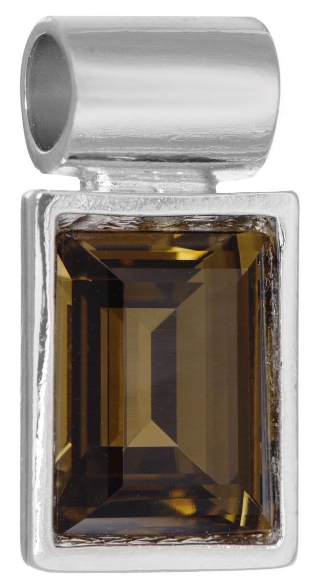 Подвеска Jenavi Унда, цвет: серебряный, коричневый. k293f325k293f325Подвеска Jenavi Унда выполнена из гипоаллергенного ювелирного сплава, оформлена покрытием из серебра и родия. Подвеска прямоугольной формы дополнена граненым кристаллом Swarovski. Изделие имеет отверстие, которое позволит использовать цепочку любого диаметра. Подвеска Jenavi Унда поможет дополнить любой образ и привнести в него завершающий яркий штрих.