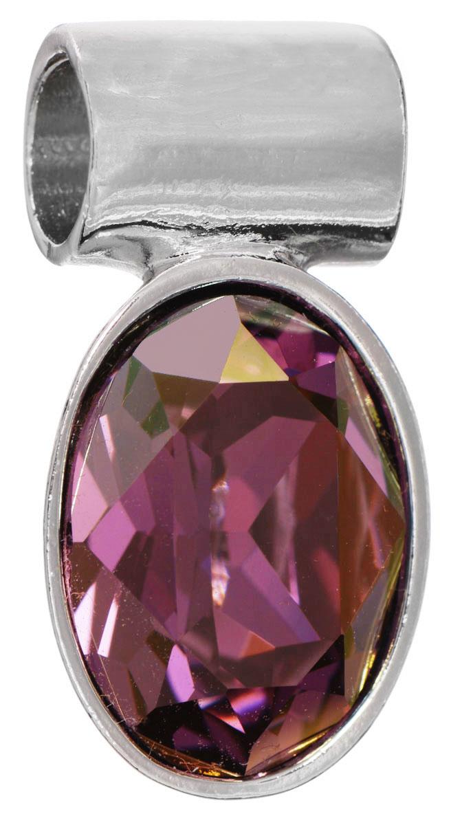 Подвеска Jenavi Лесанж, цвет: серебряный, фиолетовый. k286f351k286f351Подвеска Jenavi Лесанж выполнена из гипоаллергенного ювелирного сплава, оформлена покрытием из серебра и родия. Подвеска овальной формы дополнена граненым кристаллом Swarovski. Изделие имеет отверстие, которое позволит использовать цепочку любого диаметра. Подвеска Jenavi Лесанж поможет дополнить любой образ и привнести в него завершающий яркий штрих.