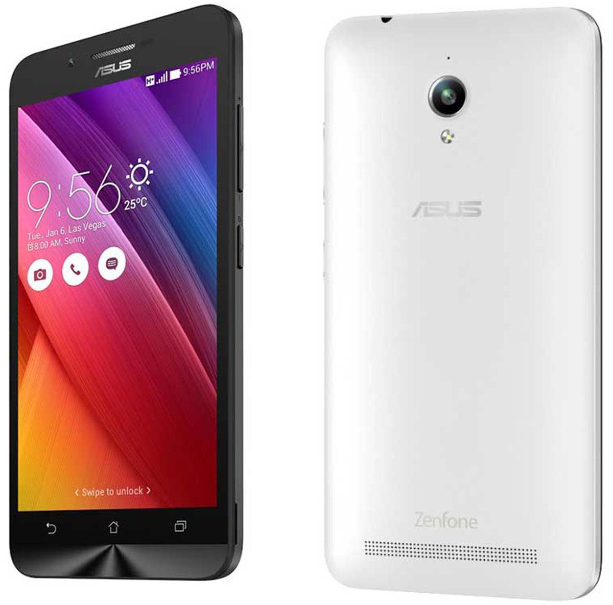 Asus ZenFone Go ZC500TG, White (90AZ00V2-M00480)90AZ00V2-M00480Смартфон ZenFone Go (ZC500TG) выполнен в изящном корпусе. Обладая эргономичной формой, он украшен традиционным для мобильных устройств ASUS узором из концентрических окружностей с углублениями размером 0,13 мм. Четырехъядерный процессор: Мощный процессор MediaTek обеспечивает высокую производительность ZenFone Go в многозадачном режиме. Впечатляющее изображение: ZenFone Go оснащается IPS-дисплеем с разрешением 1280х720 пикселей и пиксельной плотностью 294 пикселя на дюйм. Изображение на его экране отличается высокой яркостью, поразительной четкостью и насыщенными цветами. Высококачественная камера: Для съемки ярких фотографий данный смартфон оснащается тыловой камерой с высоким разрешением. Ловите красивые моменты жизни вместе с ZenFone Go! Поддержка двух SIM-карт: ZenFone Go оснащается двумя слотами для SIM-карт, что позволяет использовать одновременно два телефонных номера, например рабочий и личный....